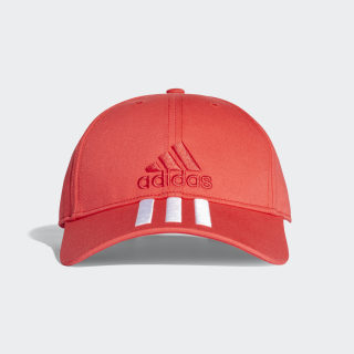 Gorra Six-Panel Classic 3 Rayas REAL CORAL S18/WHITE/REAL CORAL S18 CF6916
