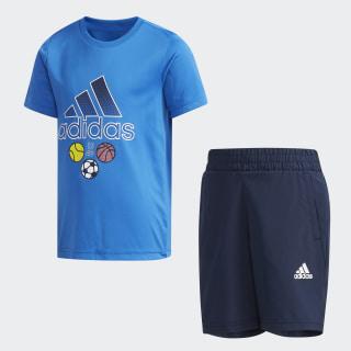 LB SS CL TEE SE blue / white DW4117
