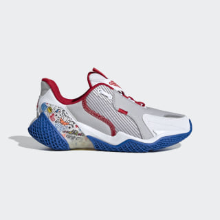 4UTURE Runner Shoes Cloud White / Scarlet / Glory Blue EH1814