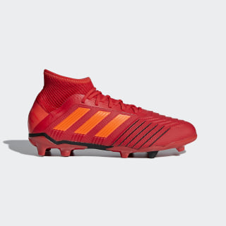 Bota de fútbol Predator 19.1 césped natural seco Active Red / Solar Red / Core Black CM8529