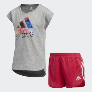 Soccer Shorts and Tee Set Medium Grey Heather EV6684