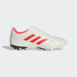 Zapatos de Fútbol Copa 19.3 Terreno Firme Off White / Solar Red / Core Black BB9187