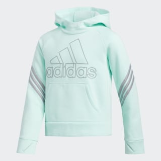 French Terry Pullover Hoodie Clear Mint CM0455