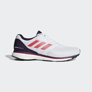 Adizero Adios 4 Shoes Cloud White / Shock Red / Legend Purple B37375