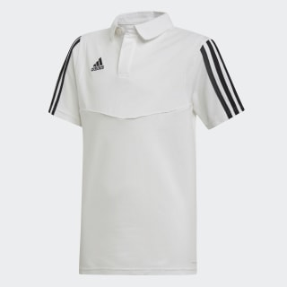 Tiro 19 Cotton Polo Shirt White / Black DU0866