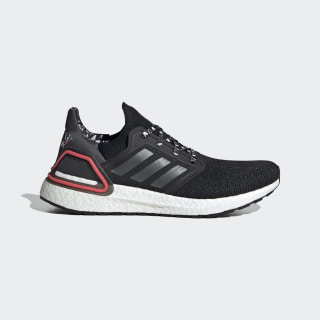 Ultraboost 20 Shoes Core Black / Night Metallic / Shock Red FX8895