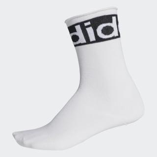 Meia Logo Crew White / Black / White EH6235