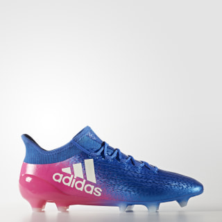 X 16.1 Firm Ground Cleats Blue / Cloud White / Shock Pink BB5619