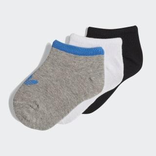 Trefoil Liner Socks 3 Pairs Medium Grey Heather / True Blue / Black DV0227