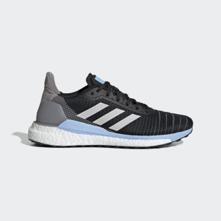 Zapatillas Solar Glide 19 Core Black / Grey One / Glow Blue G28038