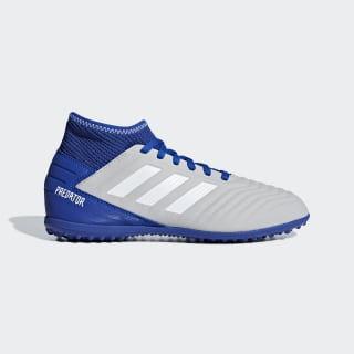 Zapatos de Fútbol Predator Tango 19.3 Césped Artificial Grey Two / Cloud White / Bold Blue CM8548