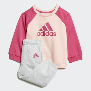 Logo Fleece joggingdragt Haze Coral / Real Magenta / Real Pink / Real Magenta DJ1576