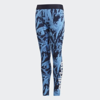 Calça Legging Essentials Allover Print Lucky Blue / Legend Ink / White DW9716