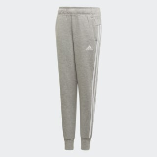 Must Haves 3-Stripes Tracksuit Bottoms Medium Grey Heather / White ED4623