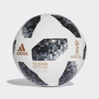 Balón oficial FIFA World Cup 2018 WHITE/BLACK/SILVER MET. CE8083