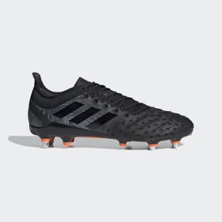 Botas Predator XP – Piso mole Core Black / Core Black / Solar Orange F36358