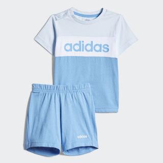 Комплект: футболка и шорты Colorblock Sky Tint / White FM0659