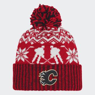 Flames Ugly Sweater Cuffed Pom Beanie Nhlcfl CY4149