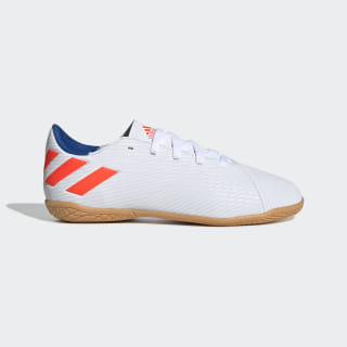 Chuteira Nmz Messi 19 4 Indoor Jr ftwr white/solar red/football blue F99928