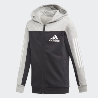 Sport ID hættetrøje Medium Grey Heather / Black ED6516