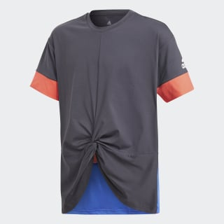 Training Wow Tee Carbon / Hi-Res Blue / Real Coral CF7190