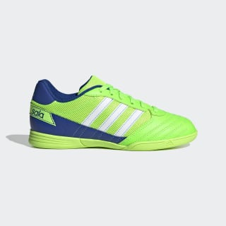 Super Sala Voetbalschoenen Solar Green / Cloud White / Team Royal Blue FV2640
