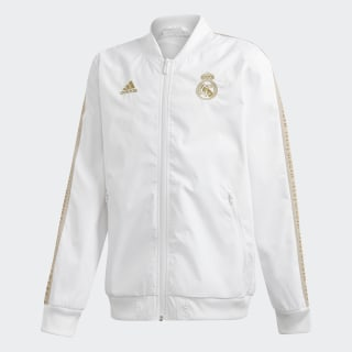 Bunda Real Madrid Anthem White / Dark Football Gold DX8704