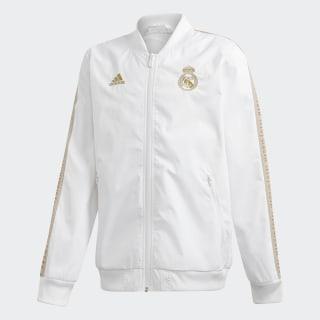 Real Madrid Anthem jakke White / Dark Football Gold DX8704