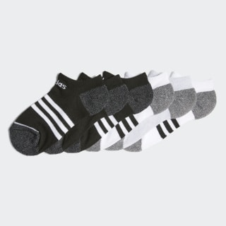 YOUTH 3 STRIPE 6-PACK NO SHOW Black CK8353