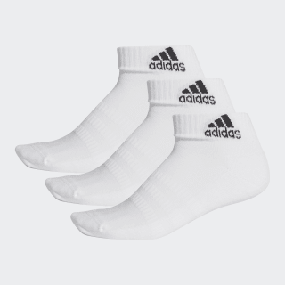 Cushioned Ankle Socks 3 Pairs White / White / White DZ9365