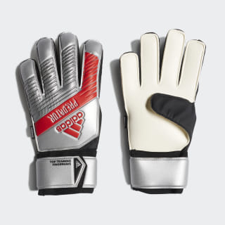 Guantes Predator Top Training Fingersave Silver Metallic / Black DY2608