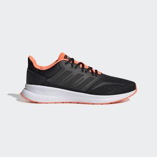 Tenis para correr Runfalcon Core Black / Core Black / Signal Coral EG8609