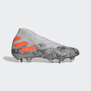 Calzado de fútbol Nemeziz 19+ Terreno Suave Grey Two / Solar Orange / Chalk White EF8284