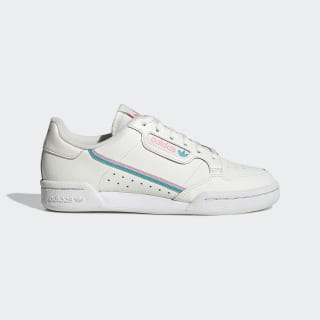 Continental 80 Shoes Off White / True Pink / Hi-Res Aqua EE6415