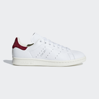 Scarpe Stan Smith Ftwr White / Ftwr White / Collegiate Burgundy AQ0887