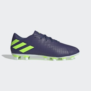 Tenis de Fútbol Nemeziz Messi 19.4 Terreno Flexible Tech Indigo / Signal Green / Glory Purple EF1807
