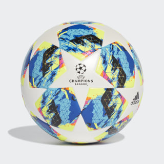 Bola UCL Finale Society+ White / Bright Cyan / Solar Yellow / Shock Pink DY2552