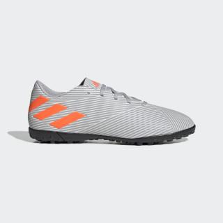 Calzado de Fútbol Nemeziz 19.4 Césped Artificial Grey Two / Solar Orange / Chalk White EF8294