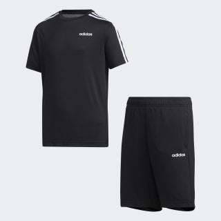3-Stripes Short Set Black / White FM0765