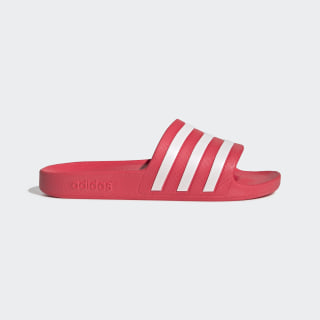 Adilette Aqua Slides Shock Red / Cloud White / Shock Red EG1743
