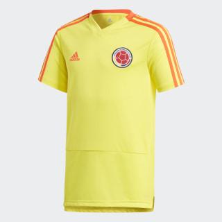 Camiseta de Entrenamiento Selección de Colombia Niño 2018 BRIGHT YELLOW/SOLAR RED CF2018