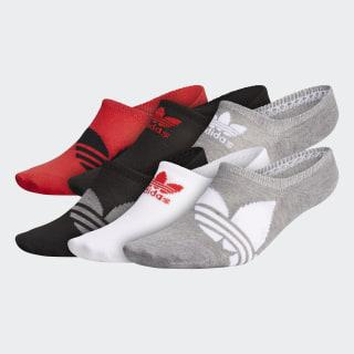 Trefoil Superlite Super-No-Show Socks 6 Pairs Multicolor CM3958