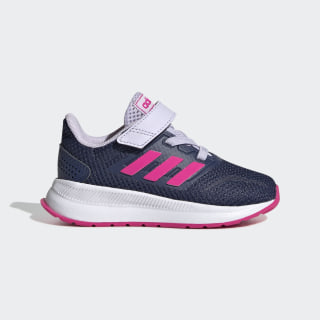 Run Falcon Shoes Tech Indigo / Shock Pink / Purple Tint EG6154