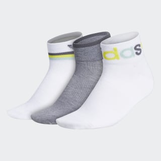 Graphic Shortie Ankle Socks 3 Pairs White CM3973