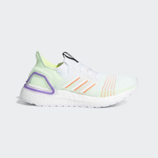 Кроссовки для бега Ultraboost 19 ftwr white / solar red / solar yellow EF0933