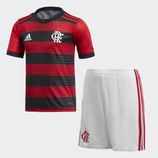 Mini Kit Flamengo 1 SCARLET/BLACK WHITE/SCARLET CF3463