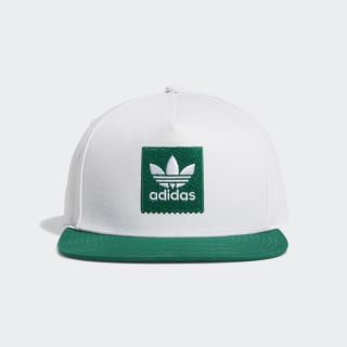 Two-Tone Trefoil Snapback Hat White / Bold Green EC6485