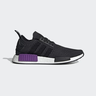 Zapatilla NMD_R1 Primeknit Core Black / Core Black / Active Purple G54635