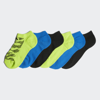 Tiger Style No-Show Socks 6 Pairs Multicolor CJ0623