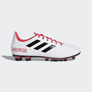 Botas Predator 18.4 Flexible Ground Cloud White / Core Black / Real Coral CM7669